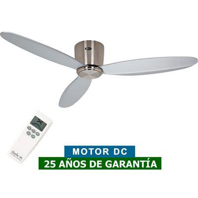 Ventilador de techo CasaFan 313280 ECO PLANO II 132cm gris / cromo cepillado
