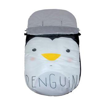 Saco Polar Pekebaby Grupo 0 Impermeable Pingüino Blanco