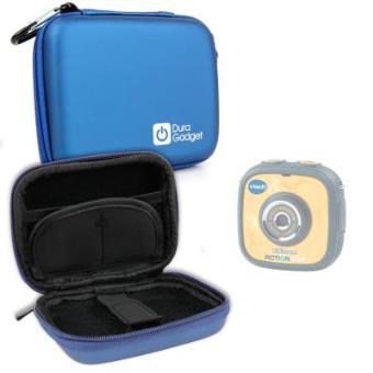 Funda Rígida Azul Para Kidizoom Action Cam - Con Mini Mosquetón - Ideal Para Viajes Por DURAGADGET