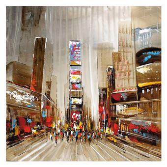 Cuadro abstracto paisaje urbano. Óleo sobre lienzo (100 x 100 cm) - 50291011444314