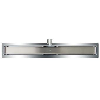 Desagüe lineal de ducha L`Aqua, baldosa 80 cm acero inoxidable