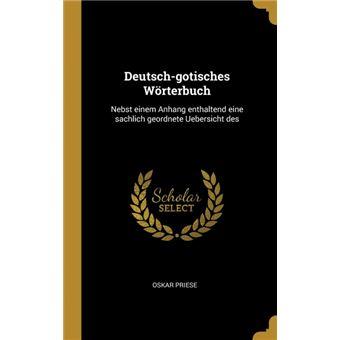Serie ÚnicaDeutsch-gotisches Wörterbuch HardCover