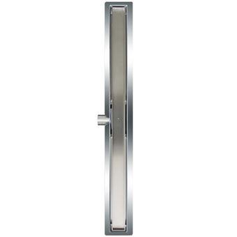 Desagüe lineal de ducha L`Aqua, baldosa 90 cm acero inoxidable