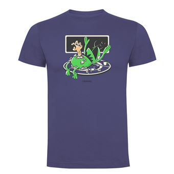Camiseta manga corta Friking, Modelo 1010 Alien Frog Talla 2XL, Denim