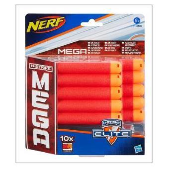 Set de 10 Dardos, Hasbro A4368E24 Nerf - N-Strike Elite Mega -