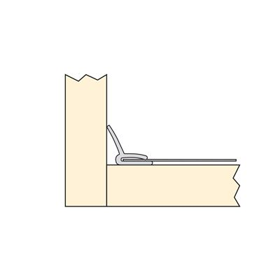 Emuca Protector fondo mueble cocina, 900 x 580 mm, espesor 16 mm, Aluminio