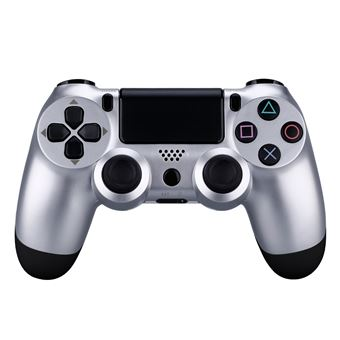 Controlador Bluetooth compatible con PS4, Plateado