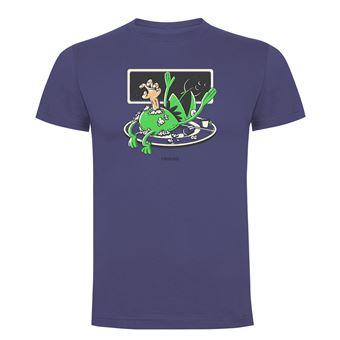 Camiseta manga corta Friking, Modelo 1010 Alien Frog Talla XL, Denim