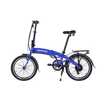 Bicicleta eléctrica Skateflash E-Bike Pro Plegable azul