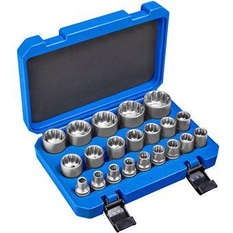 Juego de tubulares dentados exterior 21 piezas, Azul