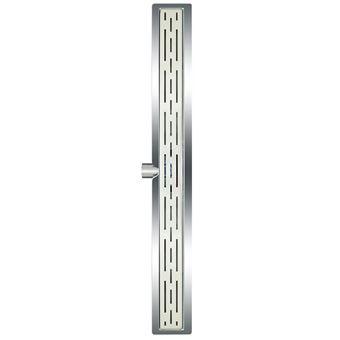 Desagüe lineal de ducha L`Aqua, clásico 80 cm acero inoxidable