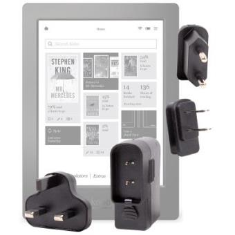 Kit De Adaptadores Con Cargador Para Kobo Aura H20 - ¡Para Que Pueda Conectar Su Dispositivo Alrededor Del Mundo! Por DURAGADGET