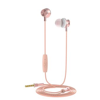Auriculares estéreo Muvit M1I3.5mm oro rosa