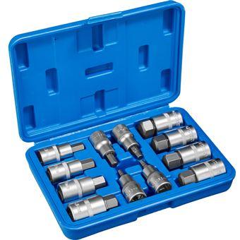 Llave tubular Allen interior 12 piezas, Azul