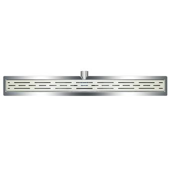 Desagüe lineal de ducha L`Aqua, clásico 90 cm acero inoxidable