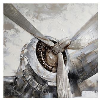 Cuadro hélice de avión. Óleo sobre lienzo (100 x 100 cm) - 50291011444338