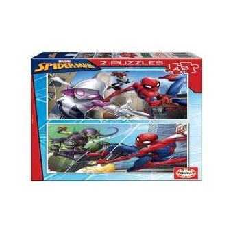 Puzzle 2 x 48 Spiderman