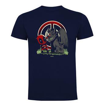 Camiseta manga corta Friking, Modelo 681 Marvel, A little joke, Talla L, Navy