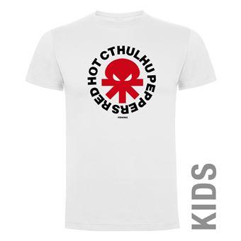 Camiseta manga corta Friking, Modelo 990 Red Hot Cthulhu Peppers Talla 4 años, Blanco