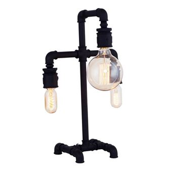 Lámpara de mesa Homemania Metal Negro 32X17x50 cm