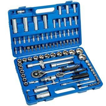 Maletín de herramientas con 94 piezas, Negro