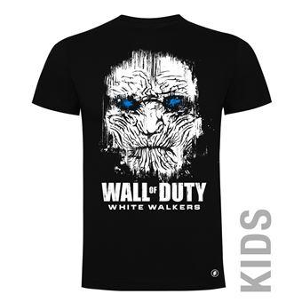 Camiseta manga corta Friking, Modelo 83 wall of duty, Talla 6 años, Negro