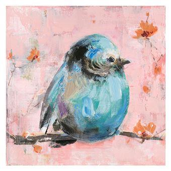 Cuadro gorrión azul. Óleo sobre lienzo (50 x 50 cm) - 50301011444406