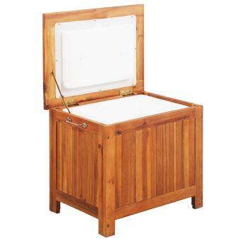 Nevera portátil de madera maciza de acacia 63x44x50 cm vidaXL
