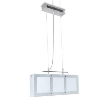 Lámpara de techo colgante vidaXL, de vidrio, para el comedor, 3 x E14