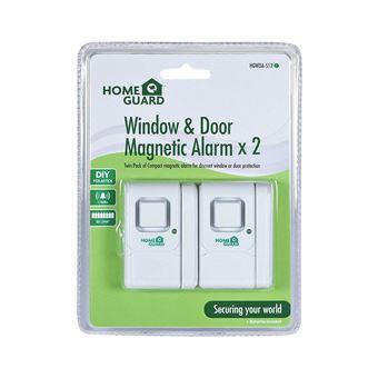 Alarma para Puertas y Ventanas, Blanco, Set de 2 Piezas. Homeguard HGWDA512
