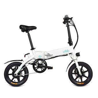 Bicicleta eléctrica FIIDO D1 14 pulgadas Rueda 10.4Ah 36V 250W Blanco
