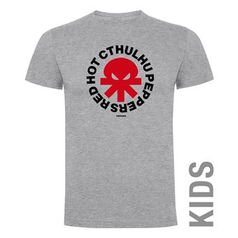 Camiseta manga corta Friking, Modelo 990 Red Hot Cthulhu Peppers Talla 12 años, Gris