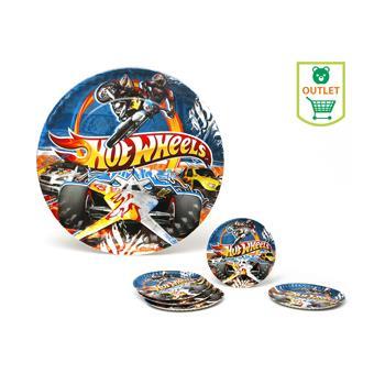 Pack 5 Platos 23 cms hot Wheels