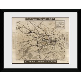 Fotografia enmarcada Transport For London Way To Wembley 60x80cm