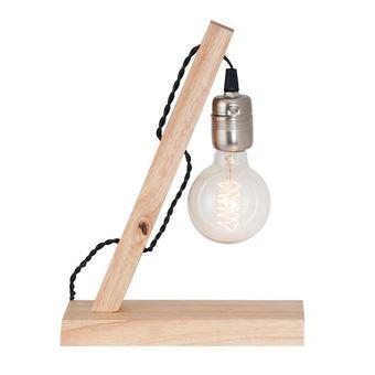 Lámpara de mesa Homemania Idea Roble 30x30x8 cm