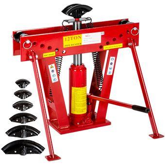 Maquina hidráulica de doblado de tubos 43 kg, Rojo
