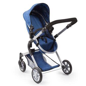 Cochecito BAYER para muñeca Neo Star azul con bandolera y cesta de la compra ajustable cochecito convertible