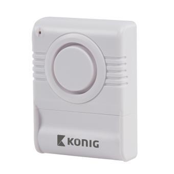König Alarma inalámbrica contra rotura de cristales de 130 dB, se coloca sobre el cristal, sin cables, fácil instalación
