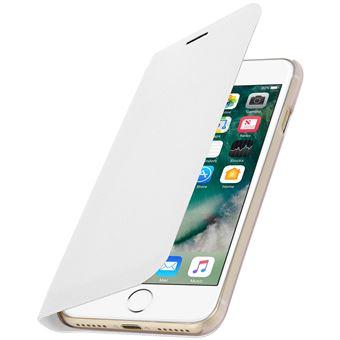0c05737d535 Funda iPhone 7 , iPhone 8 libro billetera Flip Book Cover - Blanco - Fundas  y carcasas para teléfono móvil - Los mejores precios   Fnac