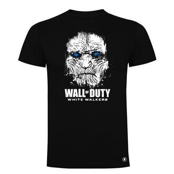 Camiseta manga corta Friking, Modelo 83 wall of duty, Talla L, Negro