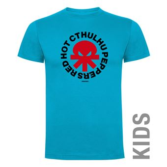 Camiseta manga corta Friking, Modelo 990 Red Hot Cthulhu Peppers Talla 4 años, Turquesa