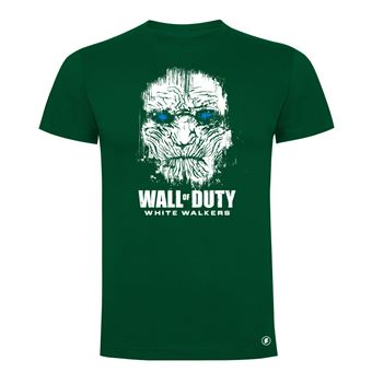 Camiseta manga corta Friking, Modelo 83 wall of duty, Talla L, Verde