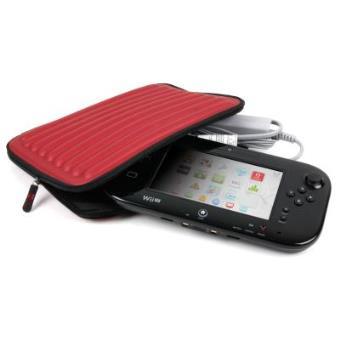 Funda Roja Ondulada Protectora Para Consola WiiU - Hecha De Espuma Con Memoria - Muy Resistente - Disponible En Más Colores Por DURAGADGET