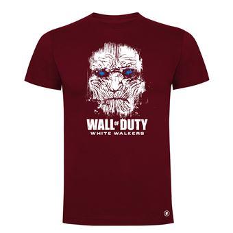 Camiseta manga corta Friking, Modelo 83 wall of duty, Talla M, Burdeos