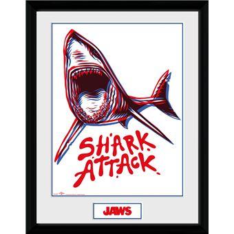 Fotografía Enmarcada Tiburón Ataque de Tiburon