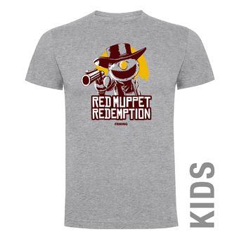 Camiseta manga corta Friking, Modelo 988 Red Muppet Redemption Talla 10 años, Gris