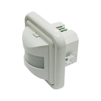 Interruptor / detector de movimiento Electro DH por infrarrojos, de pared, empotrable, Ajuste de tiempo y luz ambiente, 60.253/PD/N