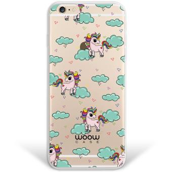 8d3ab327109 Funda iPhone 6 6S híbrida Unicornios Arcoiris Colección Dibujos Animales  Rígida y bordes de TPU Silicona - Transparente - Fundas y carcasas para  teléfono ...