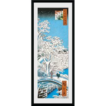 Fotografía Enmarcada Hiroshige El puente-tambor de Meguro