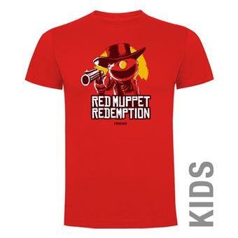 Camiseta manga corta Friking, Modelo 988 Red Muppet Redemption Talla 6 años, Rojo